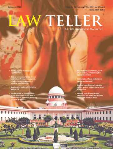 Lawteller – A Legal Awareness Magazine issue January 2016