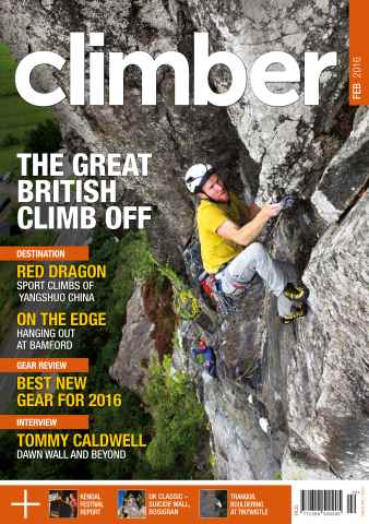 Climber issue February 2016