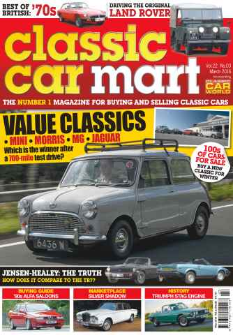 Classic Car Mart issue Vol. 22 No. 3 Value Classics