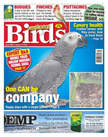 Cage & Aviary Birds issue No. 5888 One CAN Be Company