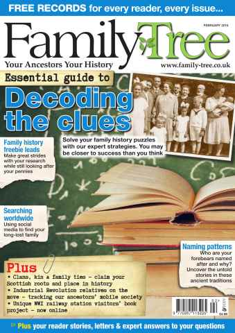 Family Tree issue Family Tree February 2016