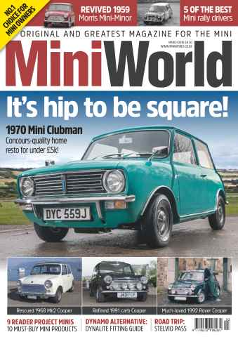 Mini World issue No. 287 It's hip to be square!