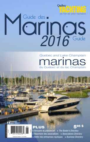 Quebec Yachting issue Guide Marinas 2016