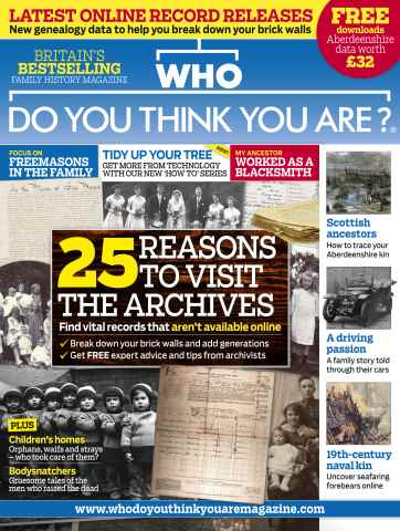 Who Do You Think You Are? issue February 2016