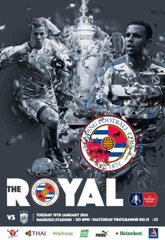Reading FC Official Programmes issue 15 v Huddersfield Town