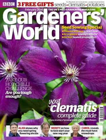 Gardeners' World issue February  2016