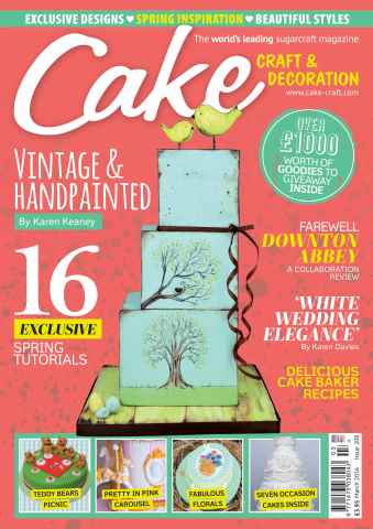 Cake Craft and Decoration Magazine issue March 2016