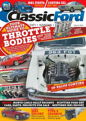 Classic Ford issue No. 235 Throttle Bodies