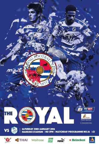 Reading FC Official Programmes issue 16 v Sheffield Wednesday