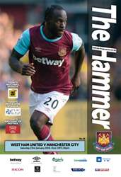 West Ham Utd Official Programmes issue MANCHESTER CITY  BPL
