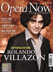 Opera Now issue Opera Now November 2011