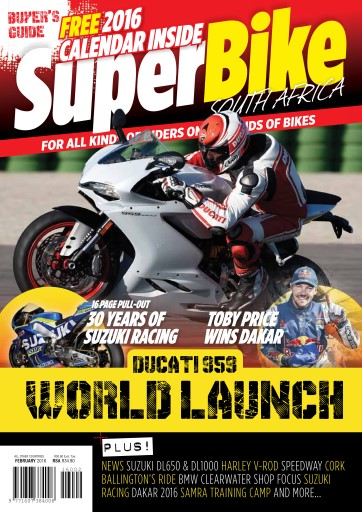 SuperBike South Africa issue February 2016
