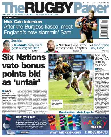The Rugby Paper issue 24th January 2016