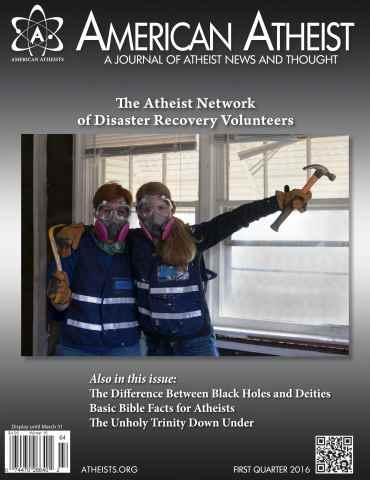 American Atheist issue Winter 2016