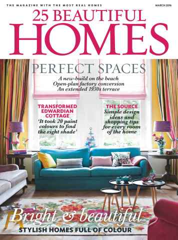25 Beautiful Homes issue March 2016
