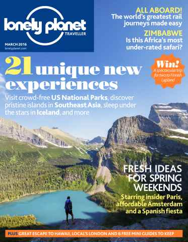 Lonely Planet Traveller issue  March 2016