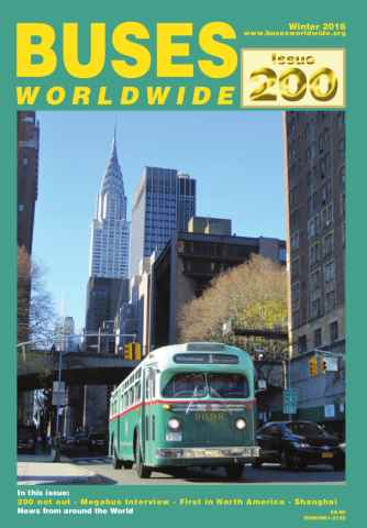 Buses Worldwide issue Issue 200 Winter 2016