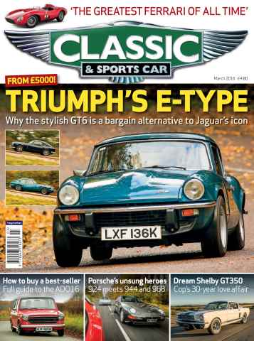 Classic & Sports Car issue March 2016