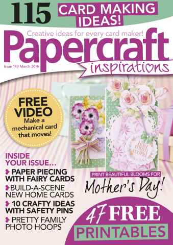 Papercraft Inspirations issue Issue 149- March 2016