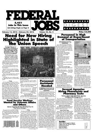 Federal Jobs Digest issue Federal Jobs Digest Vol.43#03