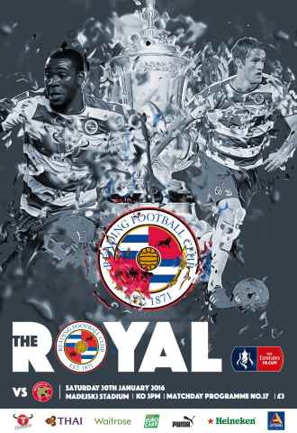 Reading FC Official Programmes issue 17 v Walsall (15-16)