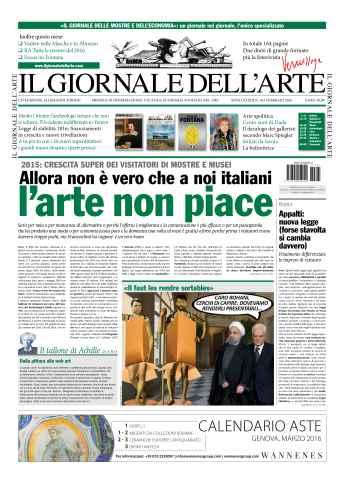 Il Giornale Dell'Arte issue febbraio 2016
