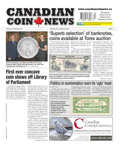 Canadian Coin News issue V53#23 - February 21