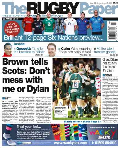 The Rugby Paper issue 31st  January 2016