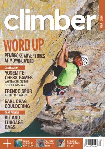 Climber issue March 2016
