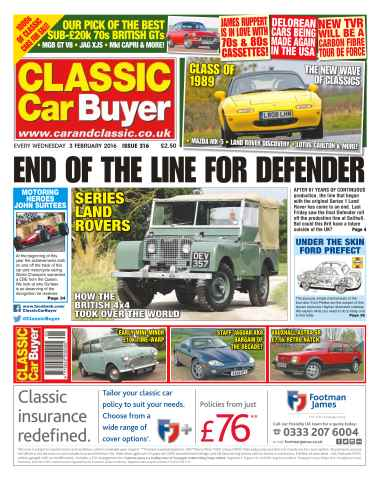 Classic Car Buyer issue No. 316 End Of The Line For Defender