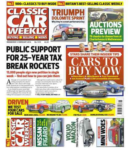 Classic Car Weekly issue 3rd February 2016