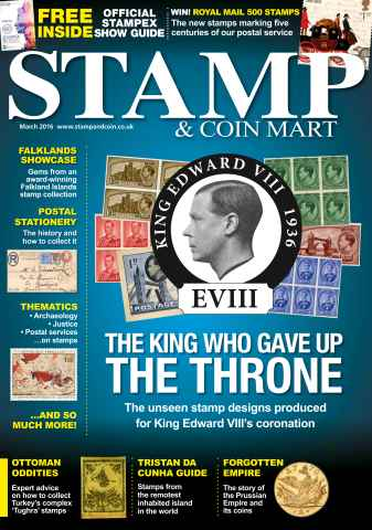 Stamp & Coin Mart issue March 2016 (includes FREE Stampex guide)