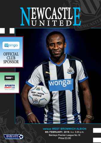 Newcastle United Programmes issue V West Brom