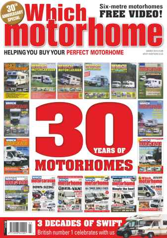 Which Motorhome issue 30 Years of Motorhomes - March 2016