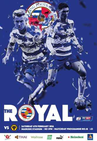 Reading FC Official Programmes issue 18 v Wolverhampton Wanderers (15-16)