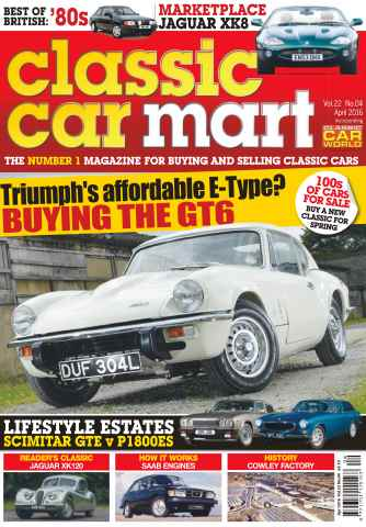 Classic Car Mart issue Vol. 22 No. 4 Triumph's Affordable E-Type?