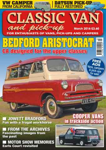 Classic Van & Pick-up issue Vol. 16 No. 5 Bedford Aristocrat