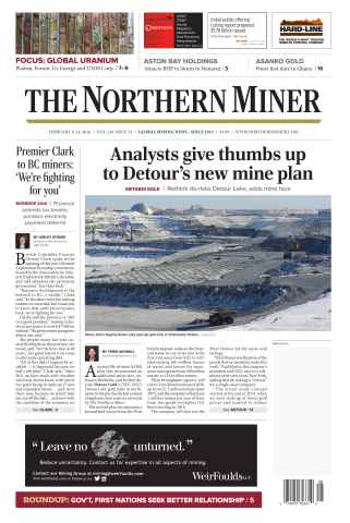 The Northern Miner issue Vol. 101 No. 52