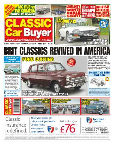 Classic Car Buyer issue No. 317 Brit Classics Revived In America