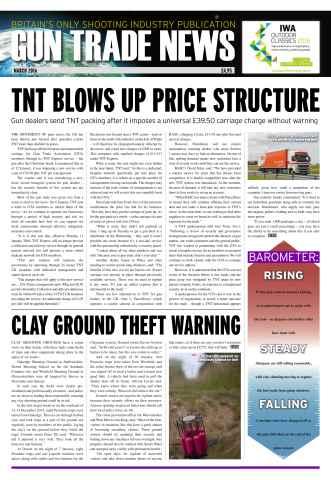 Gun Trade News issue GTN March 2016