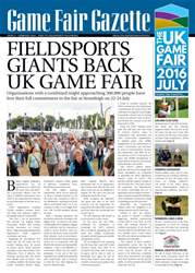 Sporting Rifle issue Game Fair Gazette