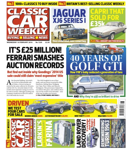 Classic Car Weekly issue 10th February 2016