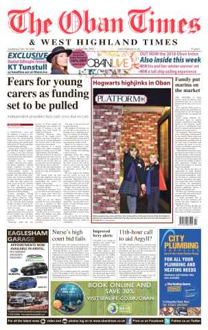 Oban Times and West Highland Times issue 11th February 2016