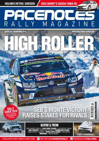 Pacenotes Rally magazine issue Issue 141 - February 2016