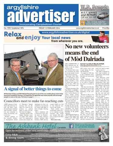 Argyllshire Advertiser issue 12th February 2016