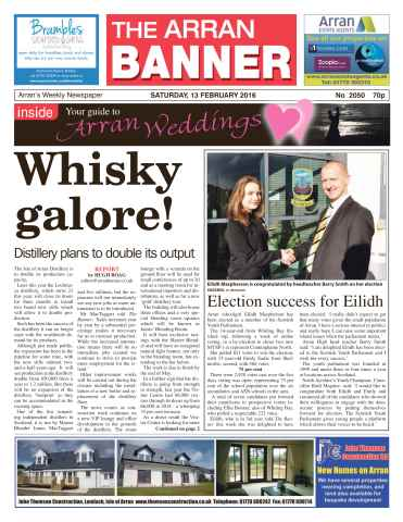 Arran Banner issue 13th February 2016