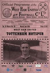 West Ham Utd Official Programmes issue TOTTENHAM  BPL