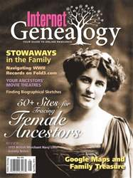 Internet Genealogy issue Apr-May 2016