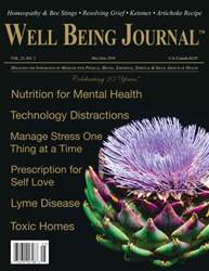 Well Being Journal issue Vol. 25 No. 3 MayJune 2016