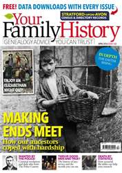 Your Family History issue April 2016